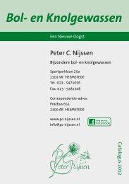 Peter C. Nijssen Bol- en Knolgewassen Catalogus 2012 - (NL) PDF