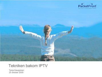Tekniken bakom IPTV - Internetdagarna