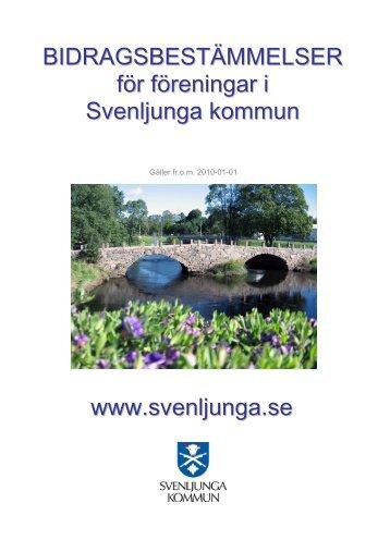 Bidragsregler för föreningar.pdf - Svenljunga kommun
