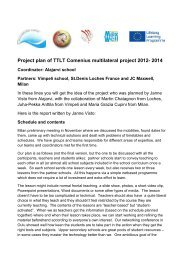 Project plan of TTLT Comenius multilateral project 2012 ... - Maxwell