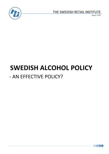 Swedish alcohol policy - The Brewers of Europe