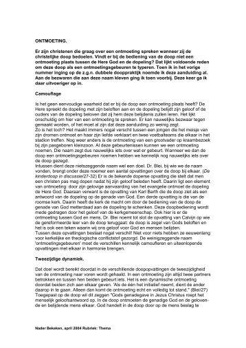 Ontmoeting - website van ds. JW van der Jagt