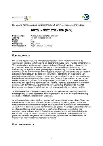 arts infectieziekten (m/v) - Vlaams Agentschap Zorg en Gezondheid