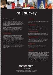 rail survey - Mätcenter