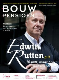 Bouwpensioen magazine (juni 2013) - bpfBOUW