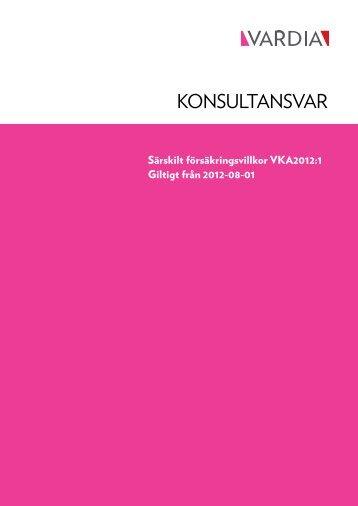 Konsultansvar VKA2012 1 - Vardia Försäkring