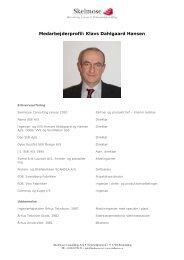 Medarbejderprofil: Klavs Dahlgaard Hansen - Skelmose Consulting