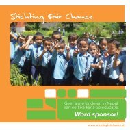 Word sponsor! - Stichting Fair Chance Nepal