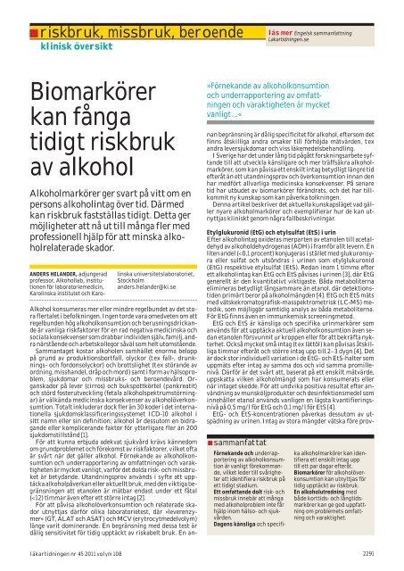 alkoholmarkörer i blod