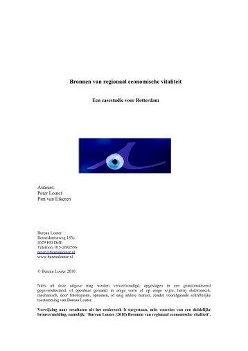 Bronnen van regionaal economische vitaliteit - Bureau Louter