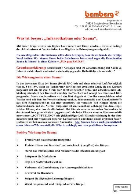 Was Ist Besser Holzlasur Oder Holzöl : was ist besser infrarotkabine oder sauna bemberg ~ Watch28wear.com Haus und Dekorationen