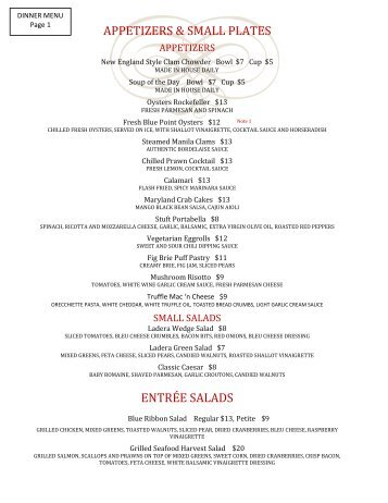 APPETIZERS & SMALL PLATES ENTRÉE SALADS - Ladera Grill
