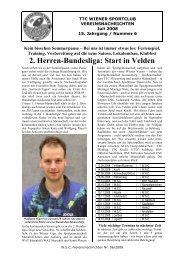 2. Herren-Bundesliga: Start in Velden - Ttskw.at