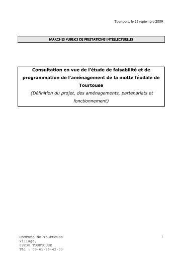Cahier des charges - Etude de l'aménagement de la motte féodale ...