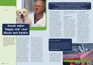 Steeds vaker Happy end voor dieren met kanker - Schwering ...
