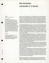 Piet Mondriaan Compositie nr. 3 (boom)