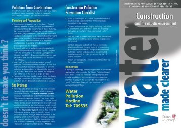 Download water pollution from construction leaflet - States of Jersey