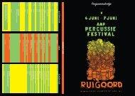 Klik hier voor het programma van 2009 - Percussie Festival
