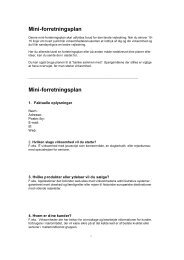 Mini-forretningsplan Mini-forretningsplan - Langeland Erhverv
