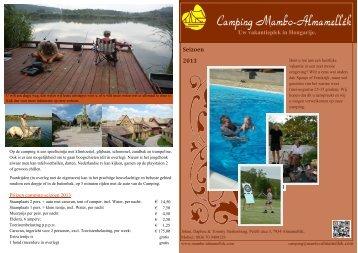 klink hier om de folder te openen - Camping Mambo-Almamellék