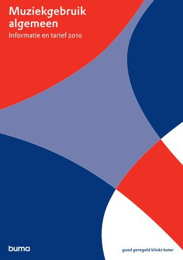 Buma brochure: Muziekgebruik algemeen - Boog Nederland