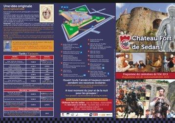 Chateau prog été 2013 RECTO - Château Fort de Sedan