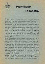 Praktische theosofie, 196x - Theosofische Vereniging in Nederland