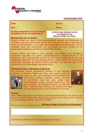 Download de Algemene kijkwijzer CKV - Museum Willem van Haren