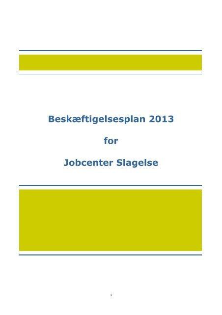 Beskæftigelsesplan 2013 - Hovedstaden & Sjælland