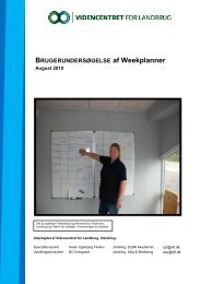 BRUGERUNDERSØGELSE af Weekplanner - Videncentret for ...