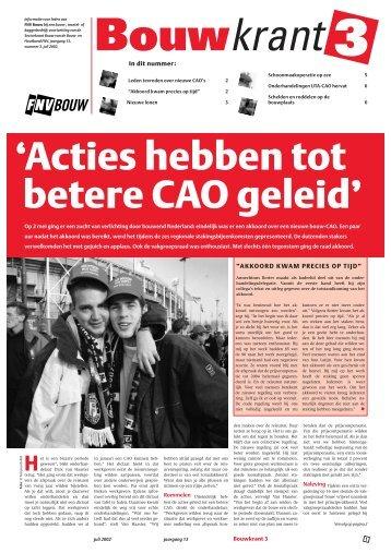 'Acties hebben tot betere CAO geleid' - Afdeling