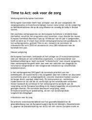 Time to Act: ook voor de zorg - ICODA European Affairs