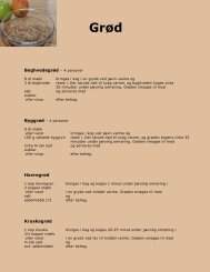 Boghvedegrød – 4 personer Havregrød Kruskagrød