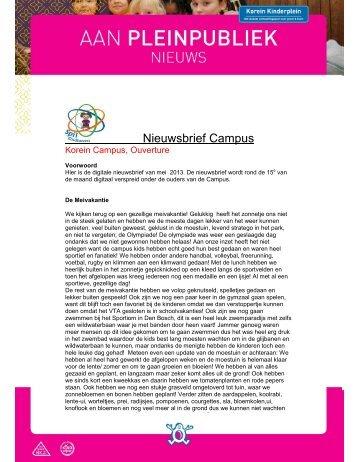 nieuwsbrief Campus mei 2013.pdf - Korein Kinderplein