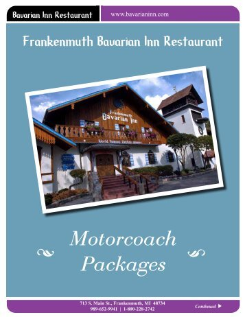 Motorcoach Packages - Bavarian Inn