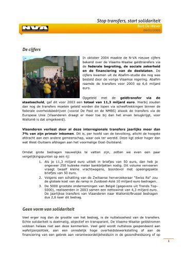 Stop transfers - start solidariteit.pdf - N-VA