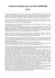 CHRONIQUE ACKERMANN Pierre 2 - Malgré-Nous