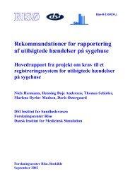 Rekommandationer for rapportering af utilsigtede hændelser på ...