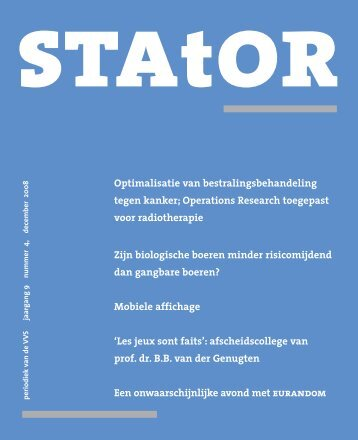 Download - Netherlands Society for Statistics and Operations ...