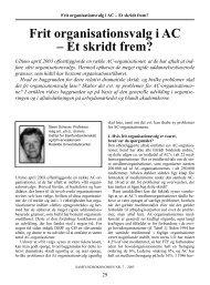 Frit organisationsvalg i AC – Et skridt frem? - Djøf Forlag