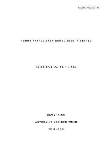 Nadere toegang 126 Register huwelijken Kethel, 1742-1804 ...