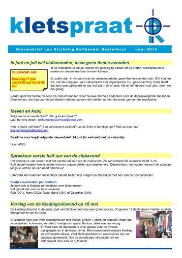 2013-06 juni - Ruilhandel Oosterhout