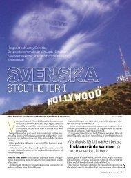 Svenska stoltheter i Hollywood. - Dagens Arbete