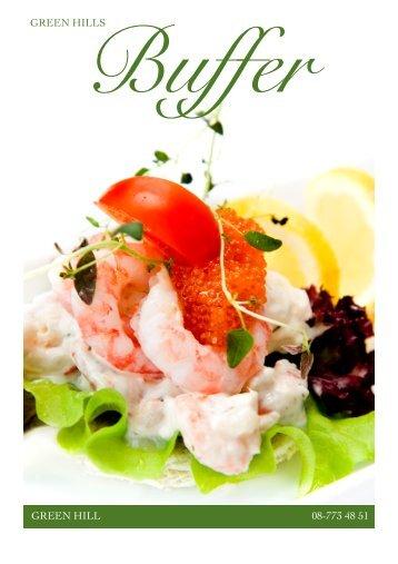Ladda ned vår buffékatalog - Green Hill Catering AB