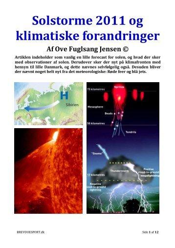 Solstorme 2011 og klimatiske forandringer - Dansk Brevduesport