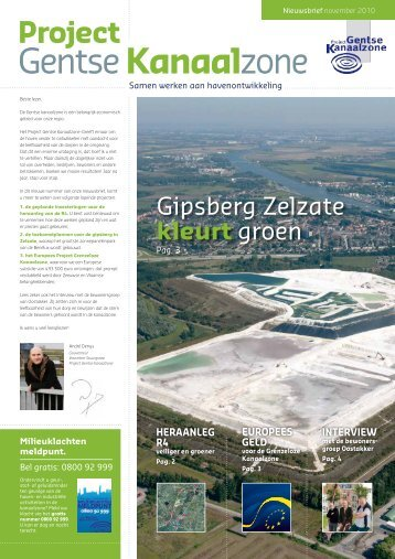 Nieuwsbrief november 2010 - project Gentse Kanaalzone