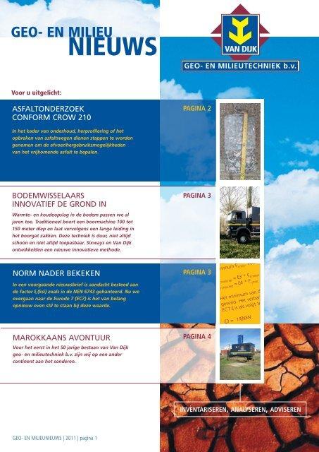 Nieuwsbrief december 2011 - van Dijk geo- en milieutechniek