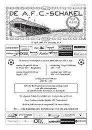 15 oktober 2008 87e jaargang nummer 3 - AFC, Amsterdam