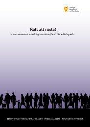 """Skrift """"Rätt att rösta"""" - Sveriges Kommuner och Landsting"""