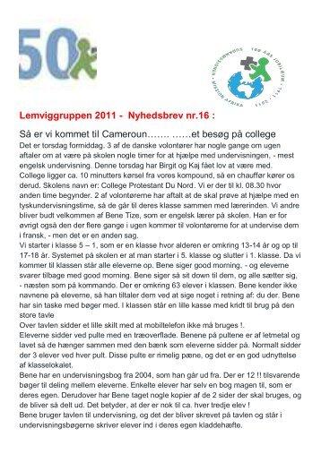 Lemviggruppen 2011 - Nyhedsbrev nr.16 : Så er vi ... - Lemvig kirkerne